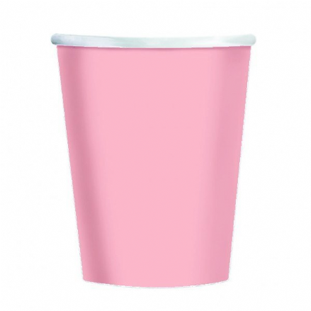 8 Pink Paper Party Cups
